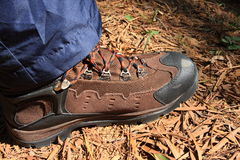 Mountaineers shoes Royalty Free Stock Photography