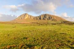 Mountaineous krajobraz w Wielkanocnej wyspie, Chile Fotografia Royalty Free