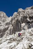 Mountainer in dolomite. Civetta massif Royalty Free Stock Images