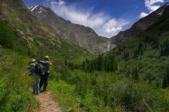 Mountaines & cachoeira Foto de Stock