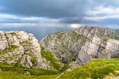 Mountaines lanscape in Bucegi royalty free stock photo