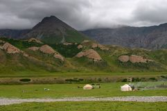 mountaines pastwiska chmurzący Fotografia Stock