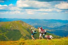Mountaing hiking  Stock Images
