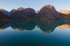 Mountainl lake view Stock Images