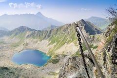 Mountainous adventure on extreme trail Stock Images