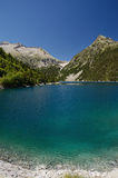 Mountainous artificial lake d'Oredon in the French Pyrenees Royalty Free Stock Photography