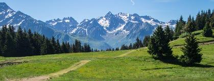 Mountainous of belledone,isere,france Stock Photos