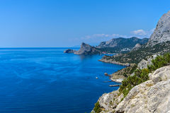 The mountainous coast Royalty Free Stock Image