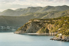 Mountainous coastline landscape near Dubrovnik Stock Photo