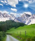 Mountainous countryside Royalty Free Stock Photos