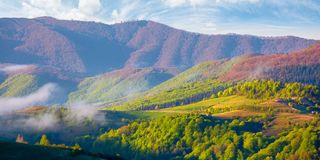 Free Mountainous Countryside In The Morning Royalty Free Stock Photography - 168238257