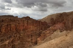 Mountainous desert of Arava Royalty Free Stock Photography