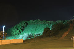 Mountainous Garden. Midnight view of Jabel Hafeet Mountainous Garden in UAE Stock Photos