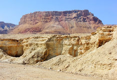 Mountainous Judean Desert near Dead Sea, Israel Stock Photo