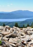 Mountainous lake Royalty Free Stock Photo
