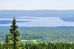 Mountainous lake Royalty Free Stock Photography