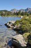 Mountainous lake d'Aumar in the French Pyrenees Royalty Free Stock Photo