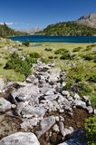 Mountainous lake d'Aumar in the French Pyrenees Stock Image