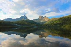 Mountainous lake Stock Photos