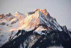 Mountainous Landforms, Mountain, Mountain Range, Sky stock image
