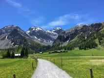 Mountainous Landforms, Mountain Range, Nature, Grassland stock photo
