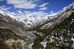 Mountainous Landforms, Mountain, Wilderness, Snow stock image