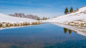 Mountainous Landforms, Wilderness, Snow, Winter Royalty Free Stock Photos