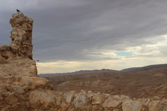 Mountainous landscape around Masada in Israel Royalty Free Stock Images
