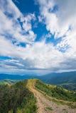 Mountainous landscape, blue sky, Laos. Picturesque mountainous landscape in Laos on a sunny day Stock Photos