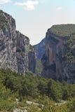 Mountainous landscape in Castellane. France Royalty Free Stock Image
