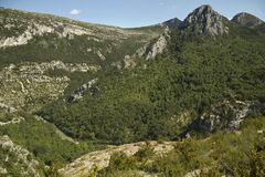 Mountainous landscape in Castellane. France Royalty Free Stock Images