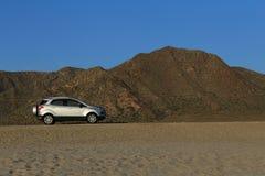 Mountainous landscape in the desert stock images