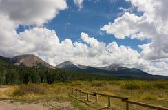 A mountainous landscape in the desert Stock Photo