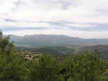 Mountainous landscape in Kabylia. Kabyle mountains. Outdoor, day grip and without character. Front view of mountains. Kabylia is a region situated in the North Royalty Free Stock Image
