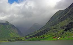 Mountainous landscape of northern Norway Royalty Free Stock Photo