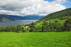 Mountainous landscape of northern Norway Stock Image