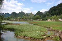 Mountainous Landscape Of Cao Bang Stock Photography