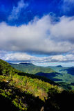 Mountainous landscape. Scenic view of a mountainous landscape with sky and clouds in the background, North Carolina, USA Stock Images