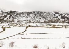 Mountainous Landscape with Snow Stock Photography