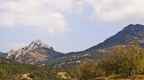 The mountainous landscape.South-East Crimea.  Stock Photo
