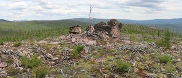 The mountainous landscape of the South Yakutia Royalty Free Stock Image