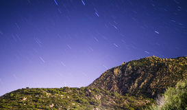 Mountainous landscape stars polar. Villasimius in Sardinia Royalty Free Stock Image