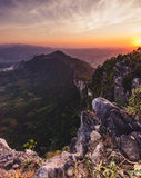 Mountainous landscape at sunset Royalty Free Stock Photo