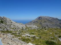 Mountainous landscape on the way to Sa Calobra, Mallorca. Lovely nature on the way to Sa Calobra, Mallorca Stock Images