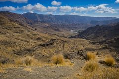 A mountainous landscape in the west of the island of Gran Canari. A royalty free stock photography