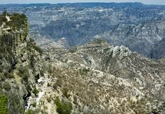 Mountainous landscapes of Copper Canyon, Chihuahua, Mexico.  Royalty Free Stock Image