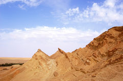 Mountainous oasis in Sahara, Chebika Royalty Free Stock Images