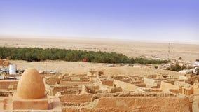 Mountainous oasis in Tunisia. Royalty Free Stock Photo
