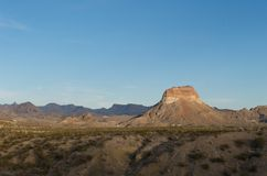 Mountainous region in the Texas hill Royalty Free Stock Photography