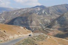 Mountainous road in Azerbaijan. Mountainous road to Xinaliq village in Azerbaijan Stock Photography